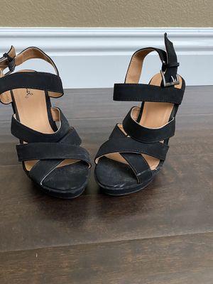 Wedge heels size size 7-7.5 black for Sale in Murrieta, CA