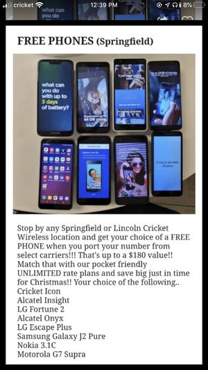Cricket Wireless Phones for Sale in Lincoln, IL