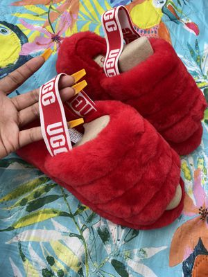 Brand new red UGG slides size 8(no box) for Sale in Atlanta, GA