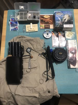 Complete Fly Fishing Setup (Reel/Rod/Vest) for Sale in Big Spring, KY