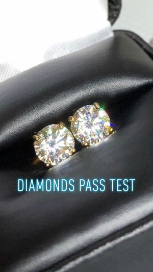 Custom diamond earrings, any shapes/color (diamonds passes test) Can be done in 10k 14k 18k 24k, silver, gold, rose gold, white gold, brass, si-vs-v for Sale in Torrance, CA