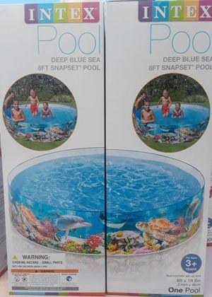Deep blue sea 8ft snapset pool intex for Sale in San Bernardino, CA
