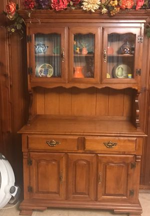 China cabinet, table and desk for Sale in Baytown, TX