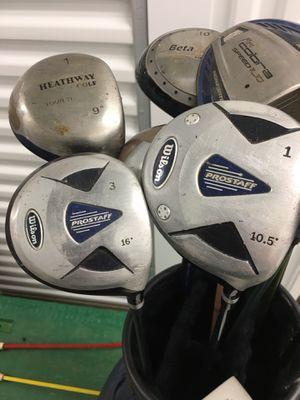 Wilson Pro Staff Right RH 1 W 3w set Driver Golf Clubs for Sale in Fredericksburg, VA