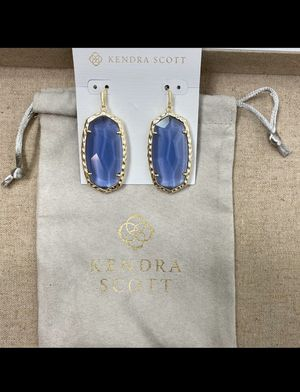 Kendra Scott Gold and Purple Elle Earrings for Sale in Abilene, TX