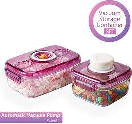 Brand New* Vacuum Food Storage Containers with Lids and Automatic Pump for Sale in Katy,  TX