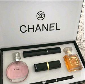 Chanel Cosmetic Perfume Gift Set Lipstick Mascara Eyeliner Mascara for Sale in Lake Angelus, MI