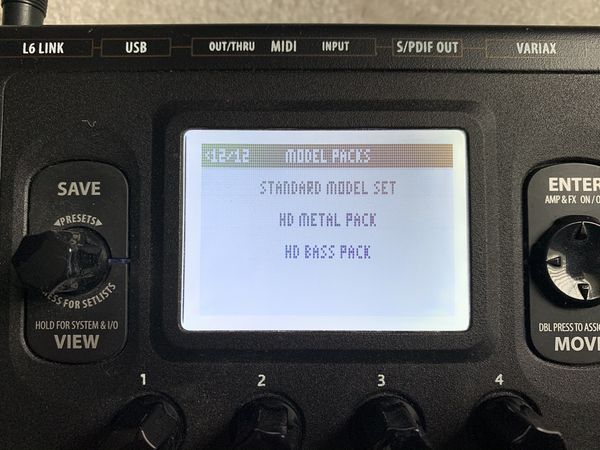 Line 6 POD HD500 with extras