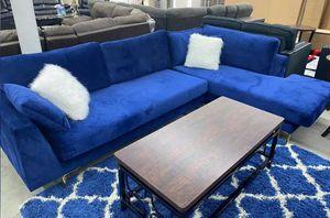 Brand New Blue Velvet Sectional Sofa for Sale in Austin, TX