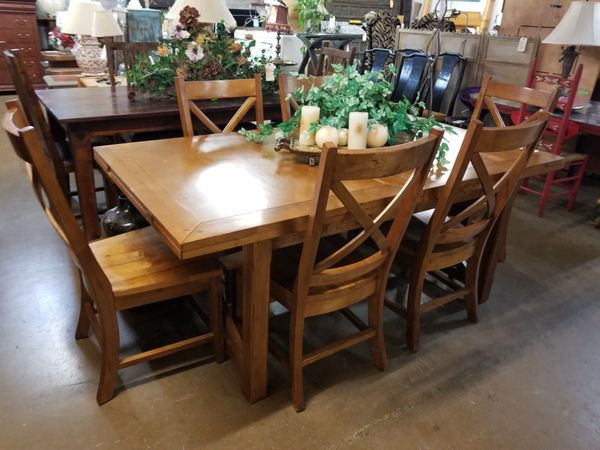 Dining table w/6chairs 🎃 We are located at 2811 E. Bell Rd. We are Another Time Around Furniture