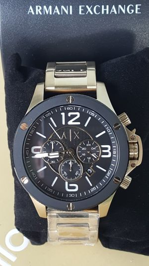 New Authentic Men's Goldtone Armani Exchange Big Face Watch ⌚⌚⌚ for Sale in Commerce, CA