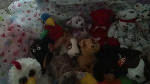 Ty Bennie babys 5 little bit still in wrapping ,7bears ,5 dogs,1bird,1chicken, 1 horse ,1 rat ,1 sqerril ,1 caterpillar for Sale in Lincoln, NE