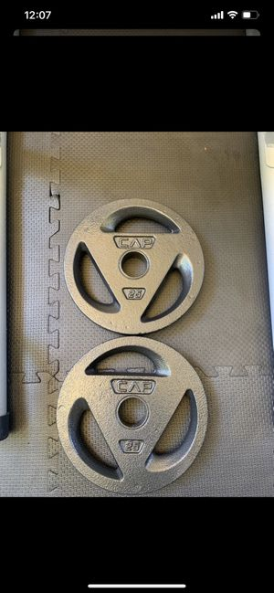 Two 25lb Olympic weights $130 for both for Sale in Pleasanton, CA