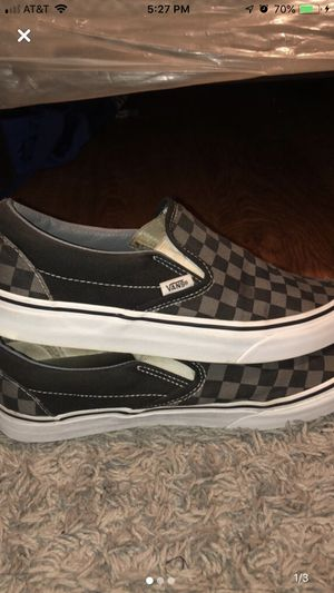 Black and Grey Checkered Vans for Sale in Ashland, OR