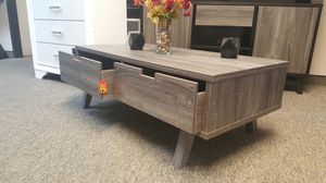 Melody Coffee Table, Distressed Grey and Black for Sale in Fountain Valley, CA