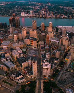 Detroit Drone photograph (Frame size 18X14) for Sale in Detroit, MI