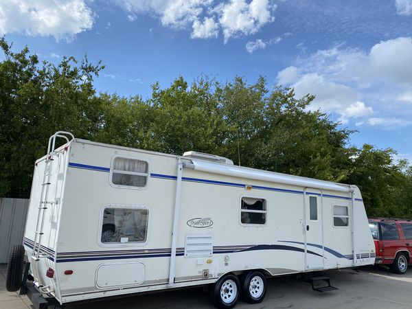 2007 trail sport 30 foot bumper pull bunkhouse with slide out