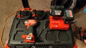 MILWAUKEE IMPACT SET. 3 BATTERIES AND RAPID CHARGER. WILL SELL THE PACKOUT BOX ALSO for Sale in Orlando, FL