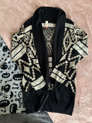 black, white, and beige cardigan for Sale in Wichita, KS