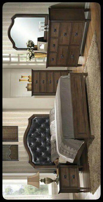 ✔Global✔ Bianca Brown Panel Bedroom Set