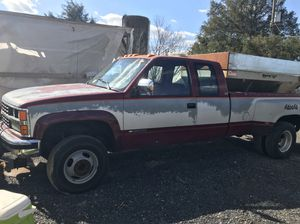 1989 Chevy Silverado 3500 dually with snow plow and salt spreader for Sale in Bealeton, VA