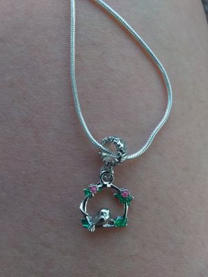 925 Two Diff Sided SwiNging BiRd ChaRm NecKLaCe for Sale in North Salt Lake, UT