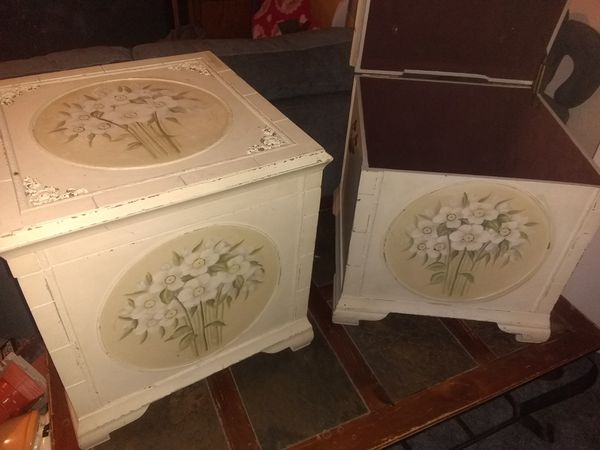 Storage boxes you can use as end tables or whatever