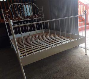 White Full Size Bed Frame for Sale in Denver, CO