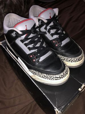 """PRE-OWNED 2011 NIKE AIR JORDAN 3 RETRO """"CEMENT"""" SZ 6Y for Sale in New York, NY"""