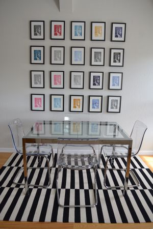 IKEA dining table, chairs and rug for Sale in San Francisco, CA