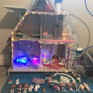 LOL doll Playset winter lodge!! Plus dolls for Sale in Tigard, OR