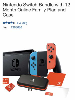 Nintendo Switch Bundle with 12 Month Online Family Plan and Case for Sale in San Leandro, CA