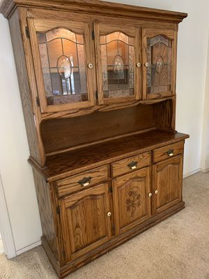 China hutch-solid wood. Very heavy for Sale in Lakeside, CA