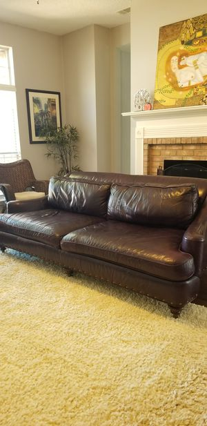 Real Leather Sofa - Bradington-Young for Sale in Frisco, TX