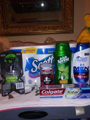Bundle Scott TP, 2in1 Head n shoulder, Irish Springs body wash, Old Spice anti perspirant n deodorant, Colgate toothpaste, Schick razor. for Sale in Los Angeles, CA