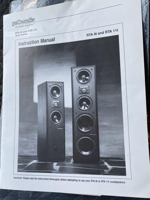 Two Polk Tower Speakers RTA 11t