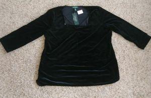 Ralph Lauren 2X Black Velvet Women's Shirt for Sale in Brier, WA