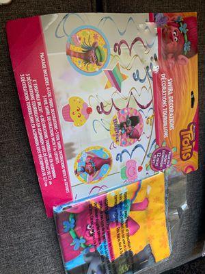 New Unopened Trolls birthday party kit for Sale in Berwyn, PA