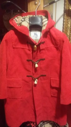 Kids Burberrys made in England wool cord toggle coat for Sale in Chicago, IL