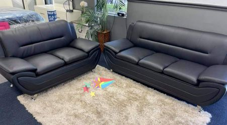Enna Black Sofa & Loveseat for Sale in Glenarden,  MD