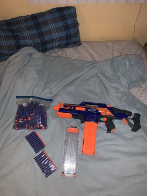 Nerf CS-18 N-Strike Elite RapidStrike Blaster w/ Extra Magazine And 100+ Darts for Sale in Morton Grove, IL