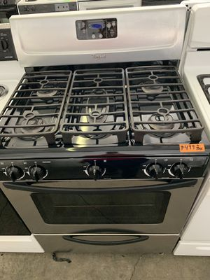 Stainless whirlpool 5 burner gas stove!! 90 day warranty! for Sale in Stockton, CA