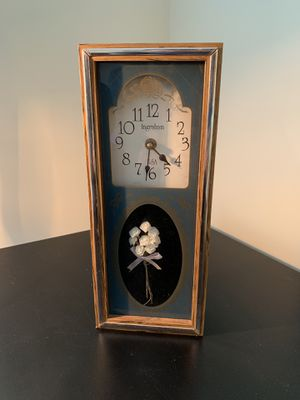 Vintage clock with flower cameo box for Sale in Arlington, VA