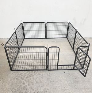 """New $70 Heavy Duty 24"""" Tall x 32"""" Wide x 8-Panel Pet Playpen Dog Crate Kennel Exercise Cage Fence Play Pen for Sale in El Monte, CA"""