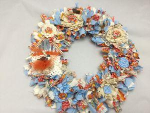 Bird house rag wreath 'Wall Decor/ Over door decor. for Sale in Arvada, CO