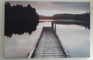 Canvas print of dock for Sale in San Marcos, CA
