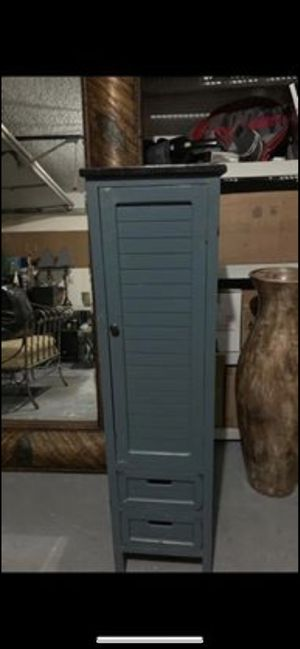 Antique green storage cabinet for Sale in Boca Raton, FL