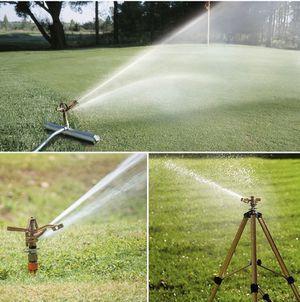 MPLUS Heavy Duty Brass Impact Sprinkler Adjustable Coverage Pattern Spray Distance Spray Flow for Garden Lawn for Sale in Shoreline, WA