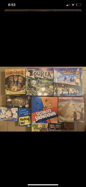 $20 FOR 11 BRAND NEW SEALED BOARD GAMES THATS LESS THEN $2 PER GAME for Sale in Lynwood, CA
