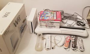 Nintendo Wii Console Bundle Lot Of 8 Games 4 Controllers & Wii Balance Board for Sale in Milton, PA